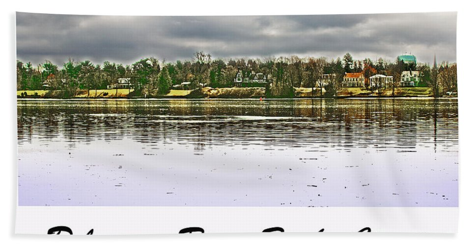 Delaware River Hand Towel featuring the photograph Delaware River Bucks County by Tom Gari Gallery-Three-Photography