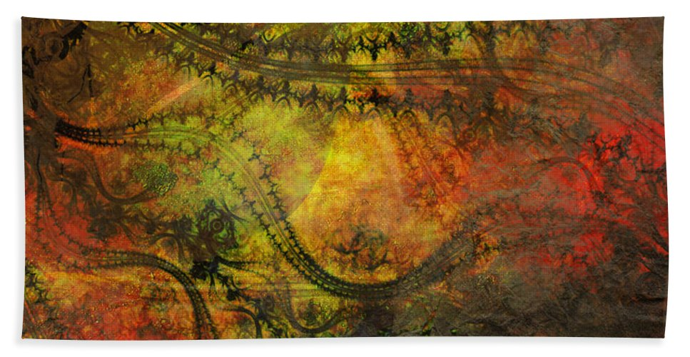 Painting Hand Towel featuring the painting Delicate by Ally White