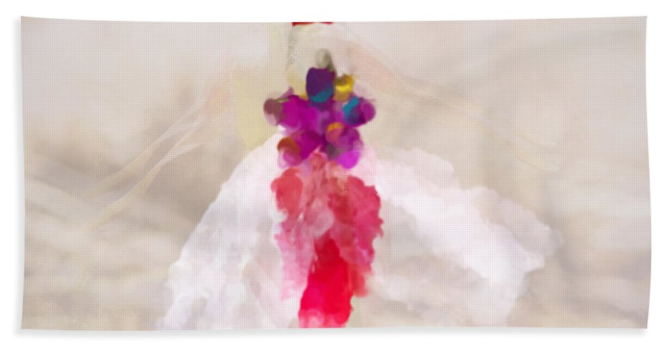 Dancer Hand Towel featuring the painting Delicate Dance - Impressionistic Dancer by Marie Jamieson