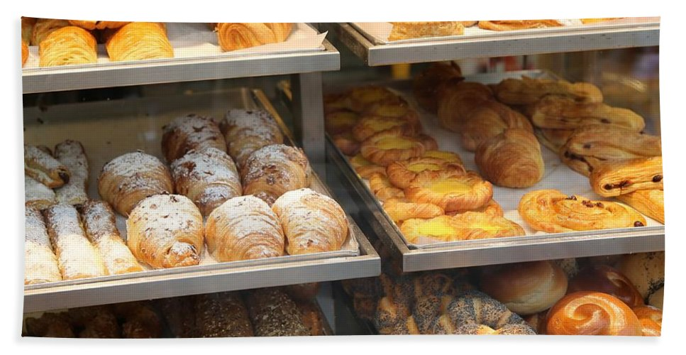 Bakery Hand Towel featuring the photograph Delicious Pastries In Brussels by Carol Groenen