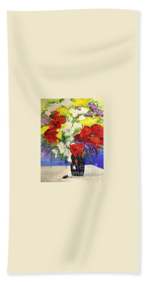 Landscape Bath Sheet featuring the painting Delightful by Allan P Friedlander