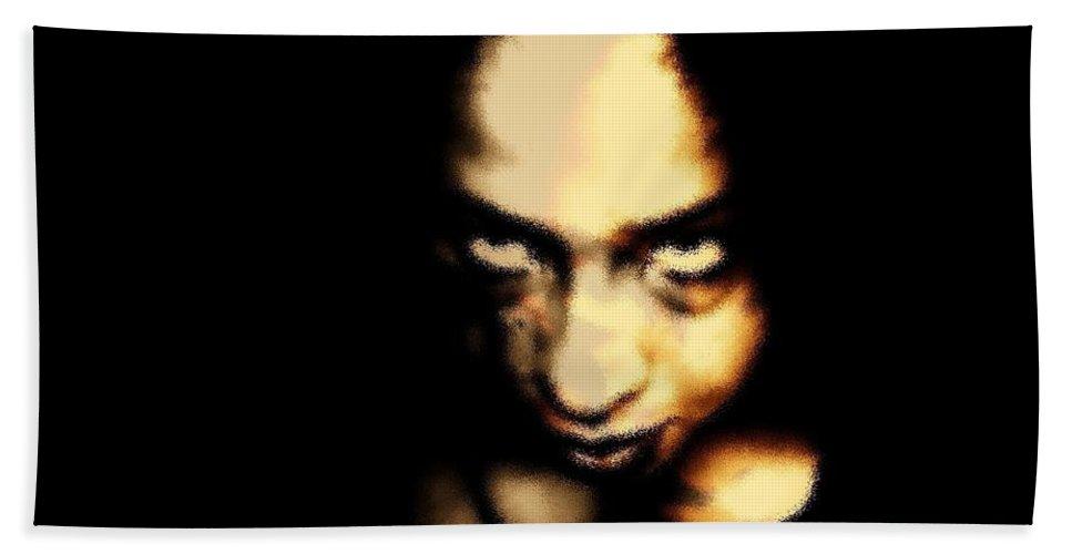 Black Bath Sheet featuring the photograph Deranged by Jessica Shelton