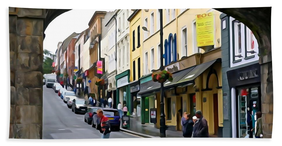 Derry Bath Sheet featuring the photograph Derry Life - Irish Art By Charlie Brock by Charlie Brock