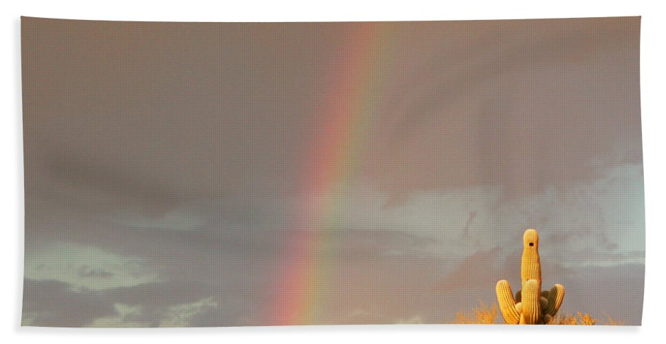 Rainbow Bath Sheet featuring the photograph Desert Promise by Laurie Larson
