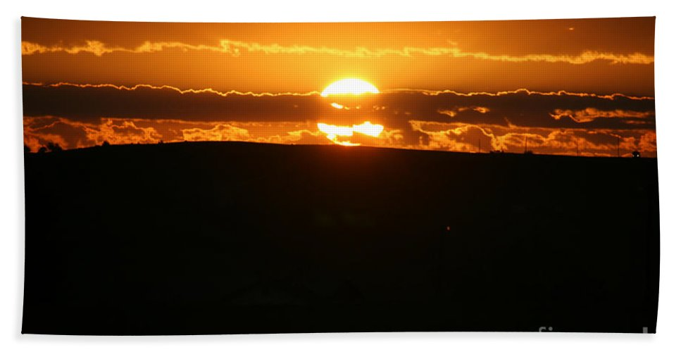 Arizona Bath Sheet featuring the photograph Desert Sunrise by Susan Herber