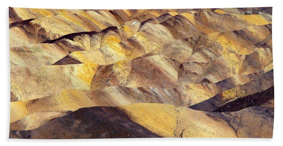 Zabriskie Point Bath Towel featuring the photograph Desert Undulations by Mike Dawson