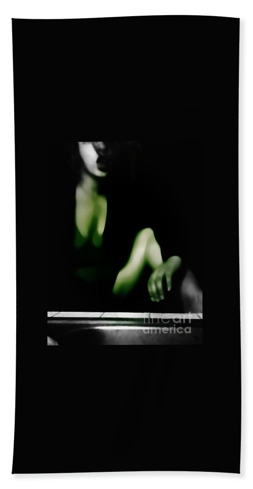 Black Hand Towel featuring the photograph Desire by Jessica Shelton
