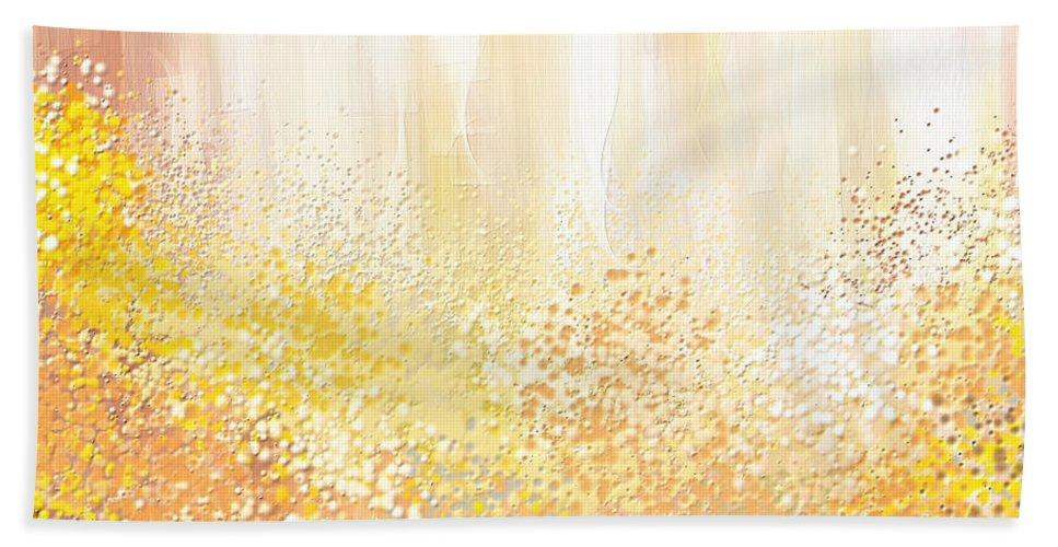 Peach Bath Sheet featuring the painting Desirous by Lourry Legarde
