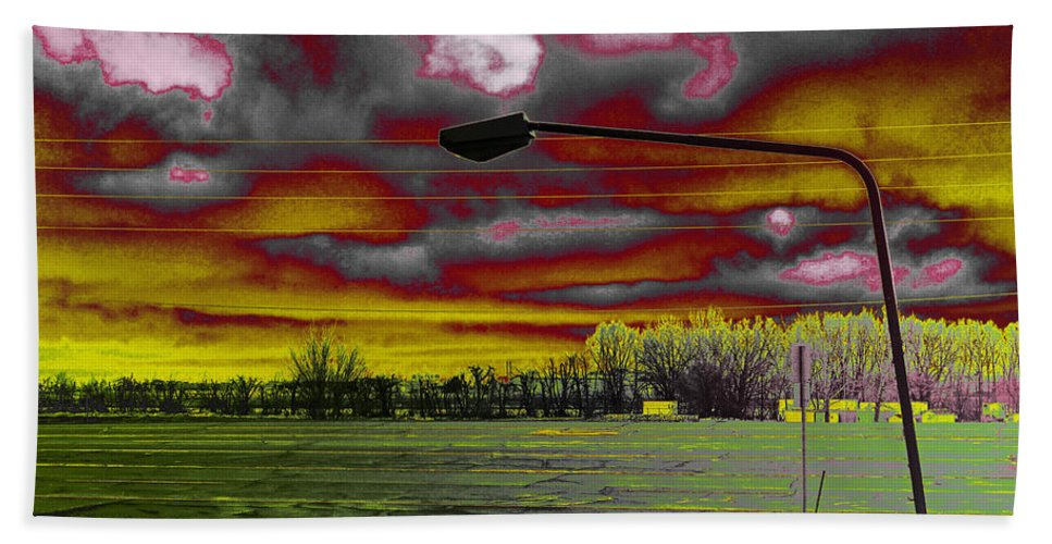 Lamp Post Bath Sheet featuring the photograph Desolation by David Pantuso