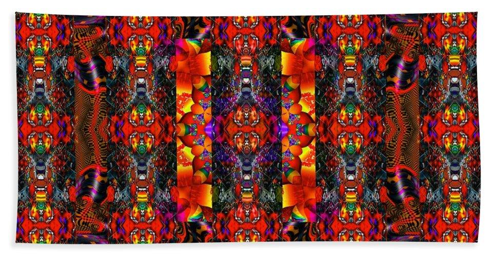 Red Bath Sheet featuring the digital art Destiny by Robert Orinski