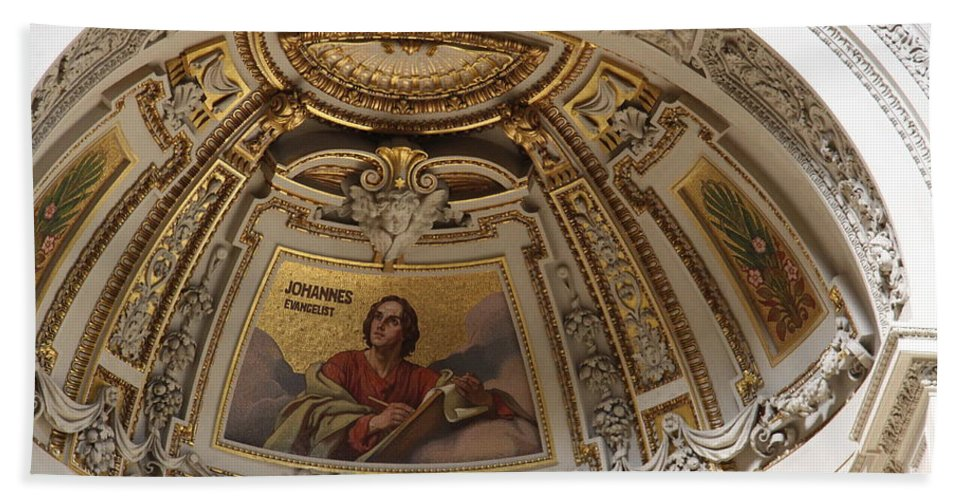 Cathedral Bath Sheet featuring the photograph Detail Berliner Dom by Christiane Schulze Art And Photography