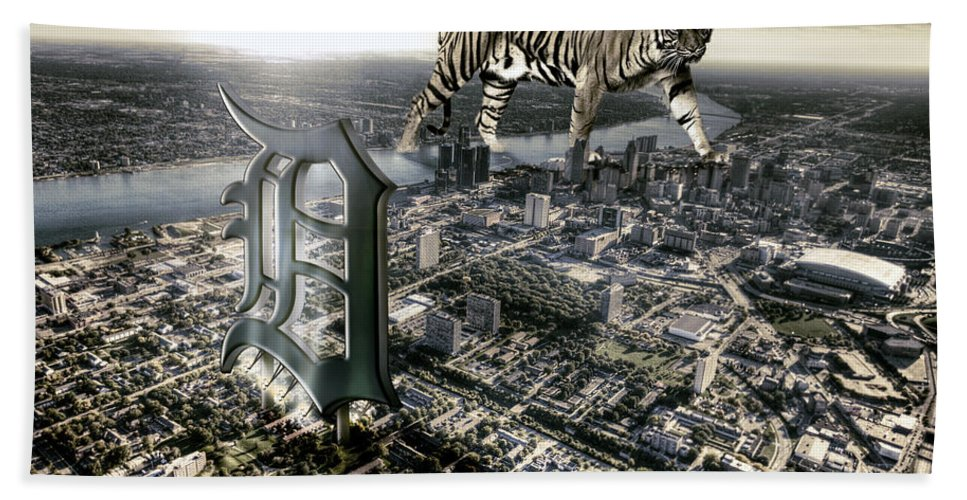 Giant Tiger Bath Sheet featuring the photograph Detroit by Nicholas Grunas