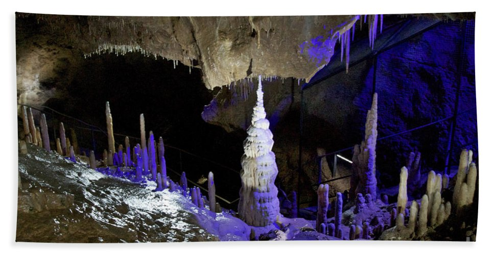 Heiko Bath Sheet featuring the photograph Devils's Cave 5 by Heiko Koehrer-Wagner