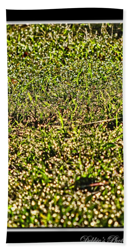 Dew Bath Sheet featuring the photograph Dew In The Sun by Debbie Portwood