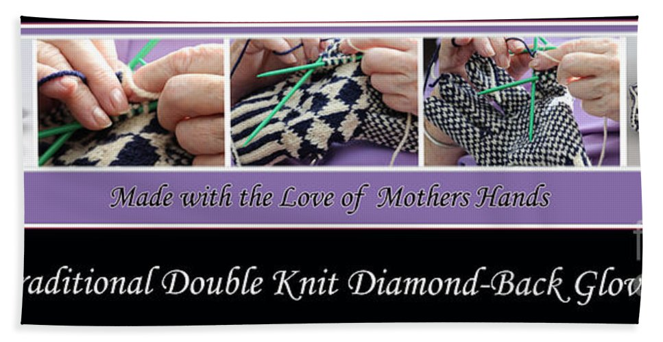 Knitting Bath Sheet featuring the photograph Diamond Back Gloves by Barbara Griffin