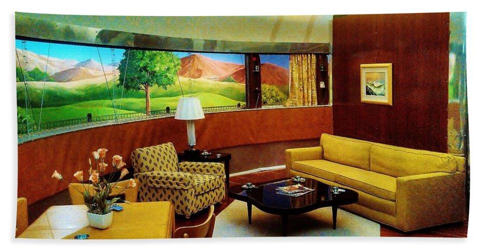 Dimaxium Living Room Bath Sheet featuring the photograph Diemaxium Living Room by Daniel Thompson