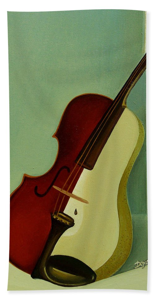 Violin Bath Sheet featuring the painting Differences by Deyana Deco