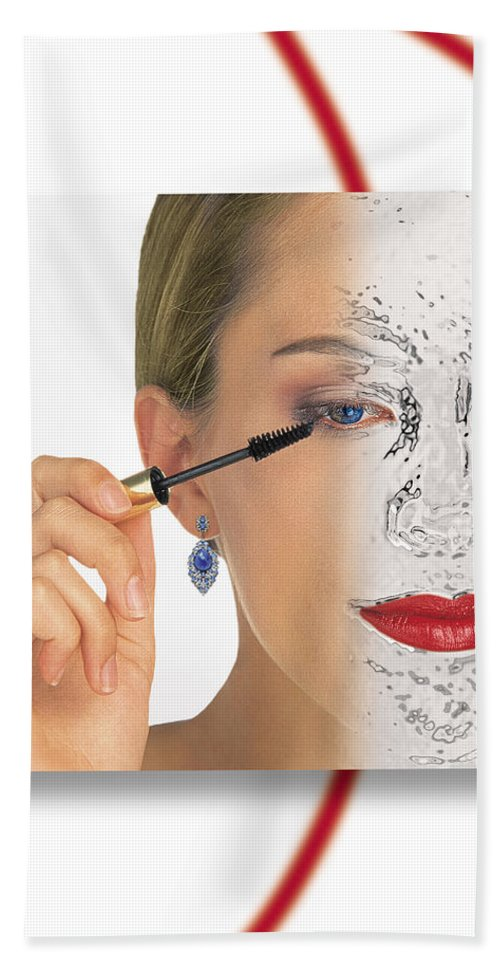 Make Up Digital Skin Bath Sheet featuring the photograph Abstract Make Up by Joseph LaPlaca