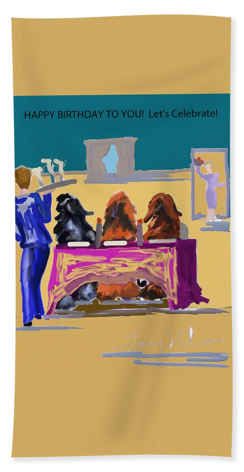 Ipad Finger Paintings Hand Towel featuring the painting Dinner by Terry Chacon