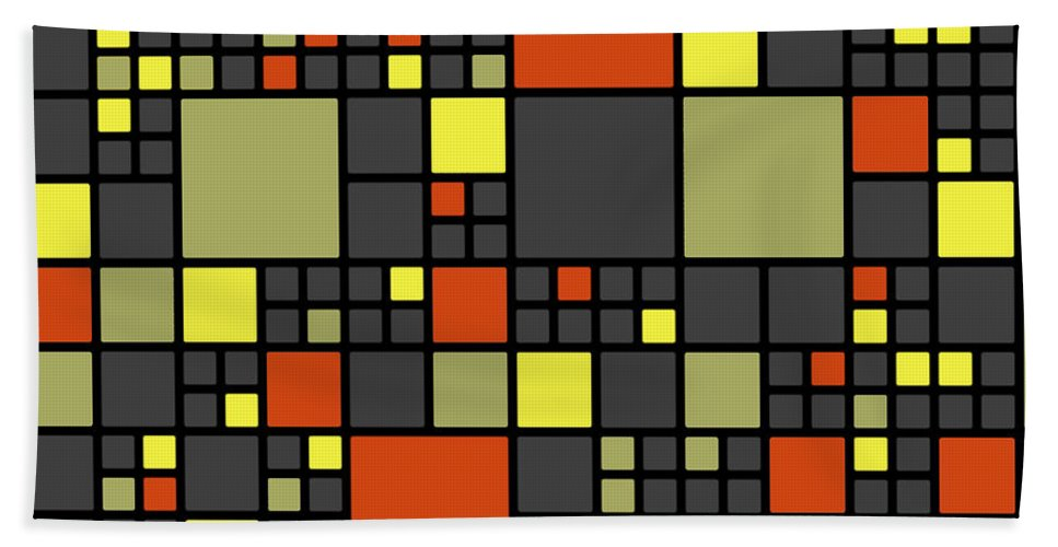 Abstract Bath Sheet featuring the digital art Dio - 07ml02 by Variance Collections