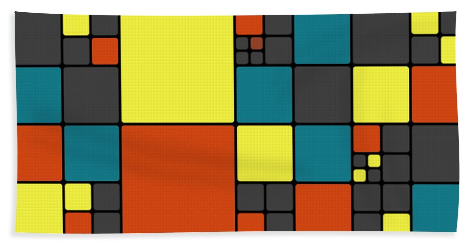 Abstract Bath Sheet featuring the digital art Dio - 55-01a by Variance Collections