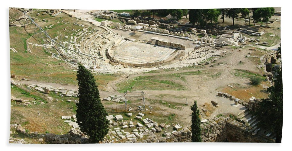 Dionysus Theater Bath Towel featuring the photograph Dionysus Amphitheater by Ellen Henneke