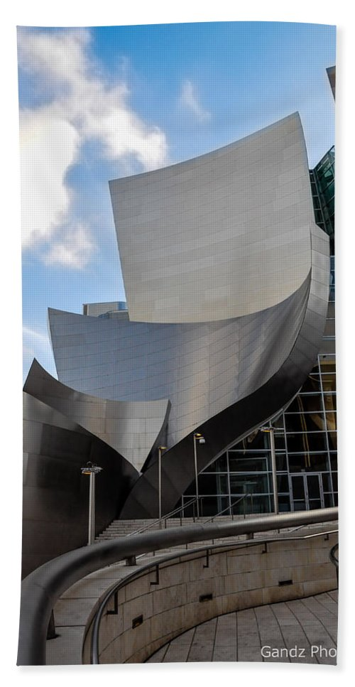 California Hand Towel featuring the photograph Disney Hall by Gandz Photography