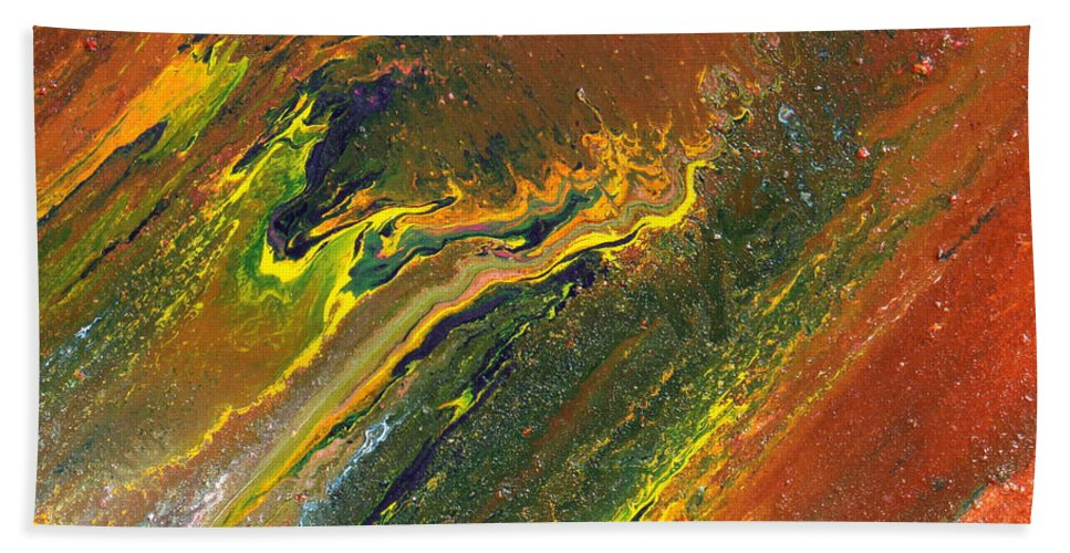 Fusionart Hand Towel featuring the painting Distance by Ralph White