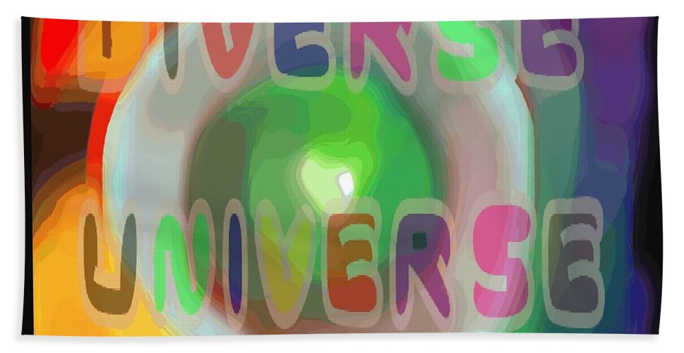 Diverse Bath Towel featuring the painting Diverse Universe by Pharris Art