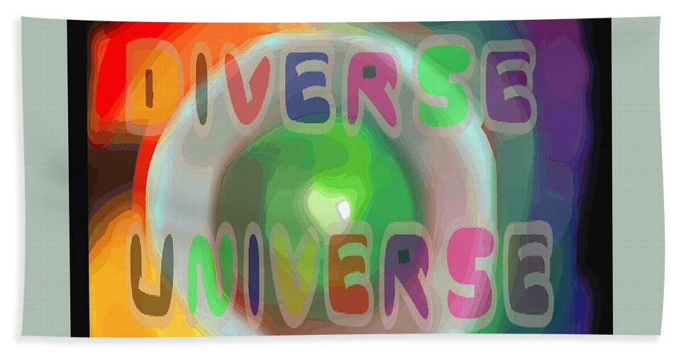 Diverse Bath Sheet featuring the painting Diverse Universe by Pharris Art
