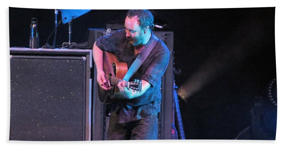 Music Bath Sheet featuring the photograph Dmb Rocks Atl by Aaron Martens