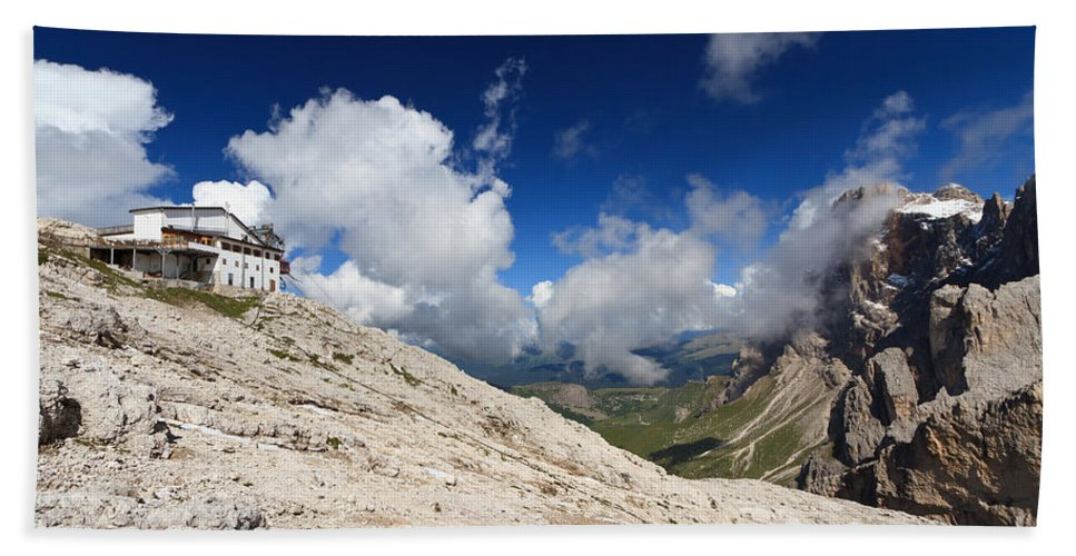 Aerial Hand Towel featuring the photograph Dolomites - Pale Di San Martino by Antonio Scarpi