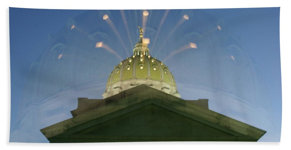 Dome Hand Towel featuring the photograph Dome Expanding by Rob Luzier