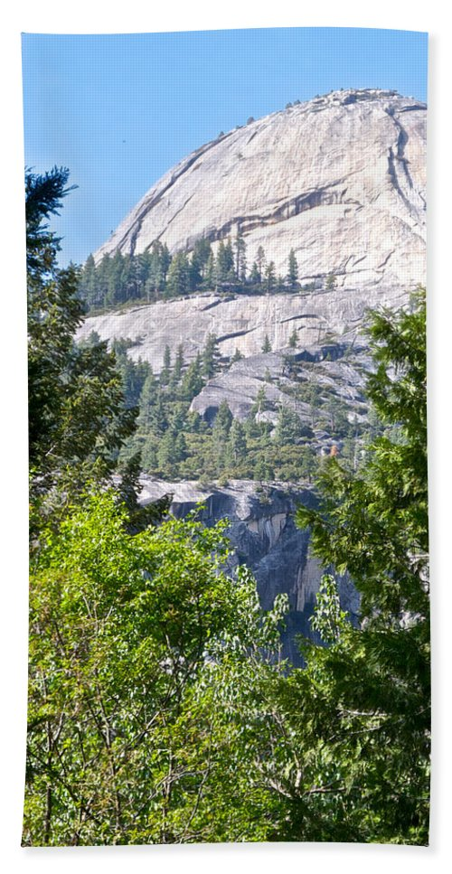 Dome Next To Half Dome Seen From Yosemite Valley Bath Sheet featuring the photograph Dome Next To Half Dome Seen From Yosemite Valley-2013 by Ruth Hager
