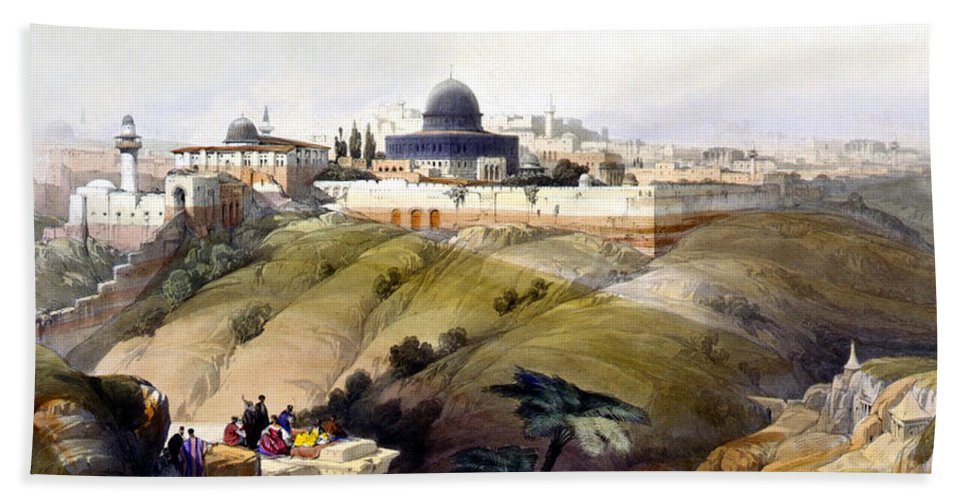 Dome Of The Rock Hand Towel featuring the photograph Dome Of The Rock by Munir Alawi