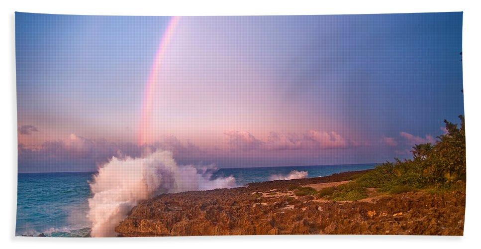 Rainbow Bath Sheet featuring the photograph Dominican Rainbow by Renee Sullivan