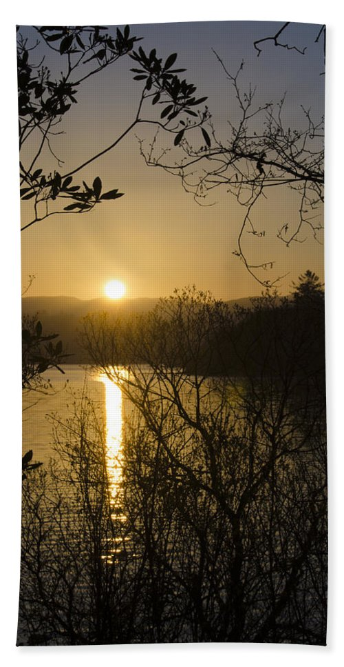 Donegal Bath Sheet featuring the photograph Donegal Morning - Lough Eske by Bill Cannon