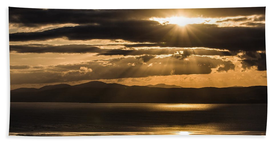 Donegal Bath Sheet featuring the photograph Donegal Sunset by Nigel R Bell
