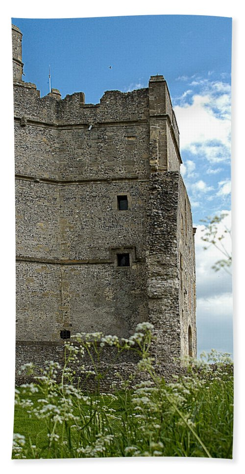 Ancient Hand Towel featuring the photograph Donnington Castle by Mark Llewellyn
