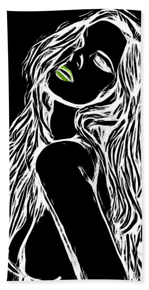 Female Woman Body Nude Breast Tits Scape Figure Curve Curves Abstract Painting Naked Black White Erotic 裸 Girl Sex Intimate Virgin Boobs Butt Innocence Male Men Man Lover Love Couple Kiss Intimo Erotico Vergine Culo Tette Innocenza Fille Femme Sexe Erotique Cul Vierge Seins Sieviete Kobieta Cycki Menina Intima Erotica Virgen Tetas Inocencia Beauty Sensual Portrait Art Love Lovesickness Emotional Color Colorful Pop Art Vintage Black White Negativ Green Hand Towel featuring the painting Dont Be So Negativ by Steve K