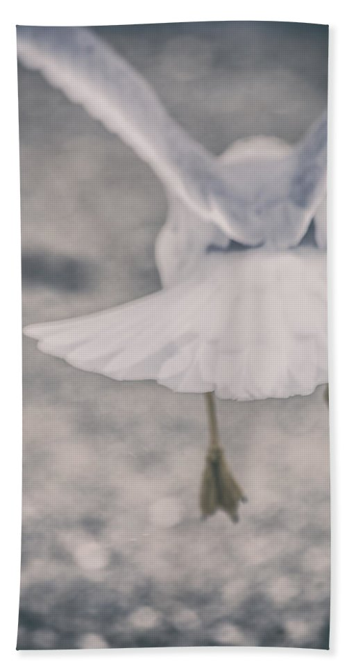 Don't Go Hand Towel featuring the photograph Don't Go by Karol Livote