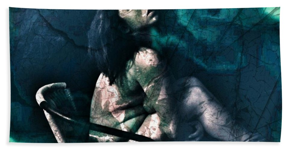 Bath Sheet featuring the photograph Dont Leave Me To The Night by Jessica Shelton