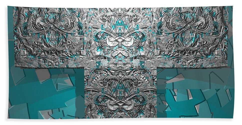 Bath Sheet featuring the digital art Dontsayanything B 14 2 For Rich by Zac AlleyWalker Lowing
