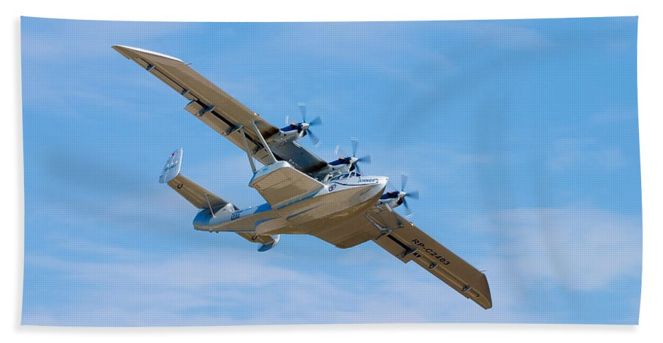 3scape Hand Towel featuring the photograph Dornier Do-24 by Adam Romanowicz