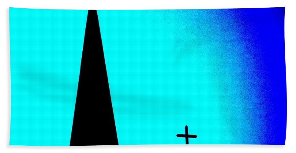 Church Bath Sheet featuring the photograph Double Crosses by Chris Berry