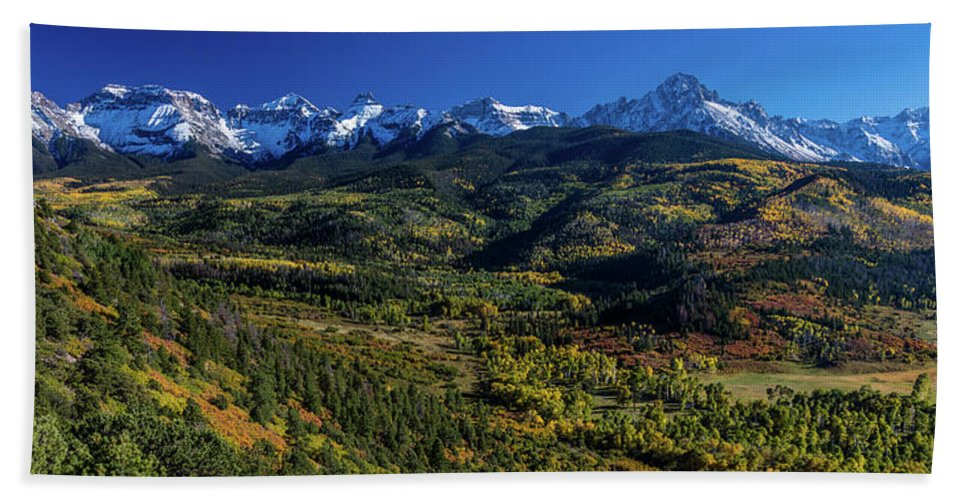 Photography Hand Towel featuring the photograph Double Rl Ranch Near Ridgway, Colorado by Panoramic Images