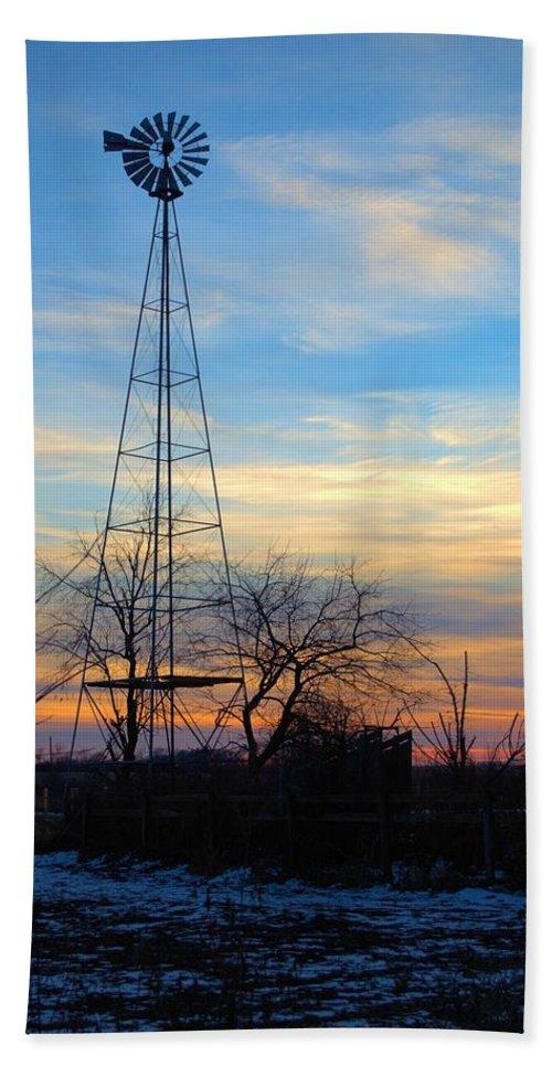 Windmill Bath Sheet featuring the photograph Dougherty Windmill by Bonfire Photography
