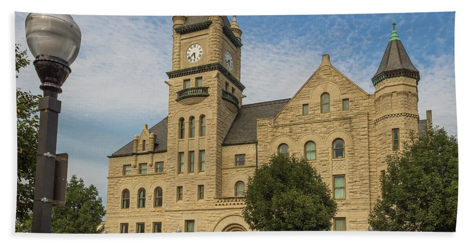 Court Hand Towel featuring the photograph Douglas County Courthouse 5 by Ken Kobe