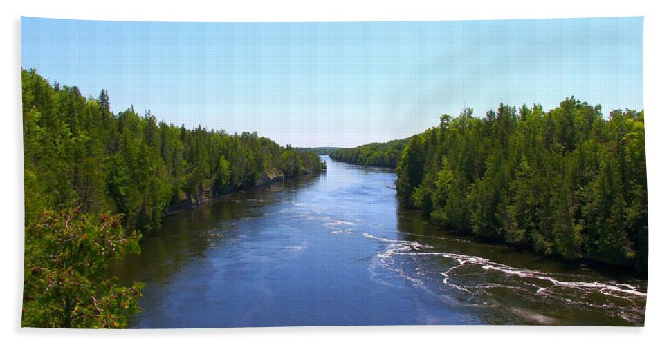 Outdoors Bath Sheet featuring the photograph Down River by Davandra Cribbie
