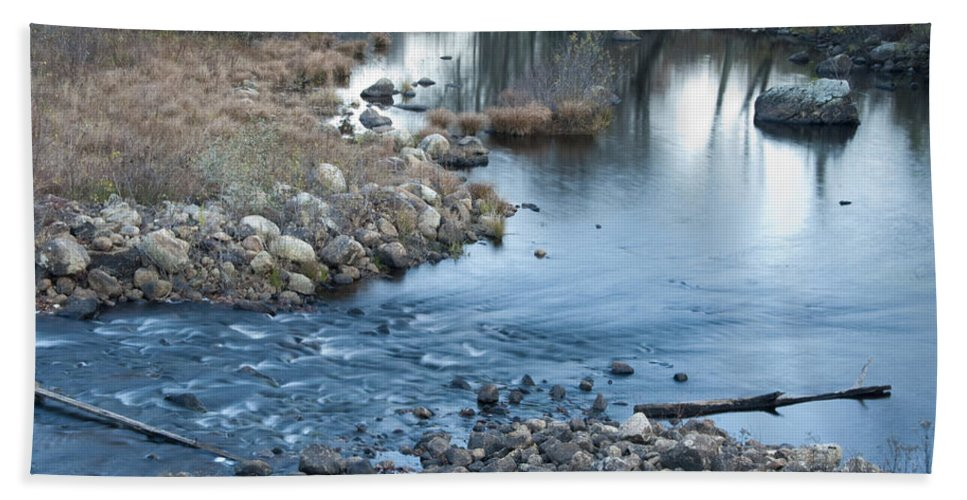 Photography Hand Towel featuring the photograph Down Stream by Steven Natanson